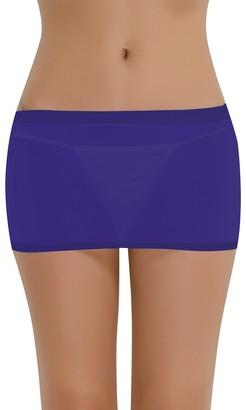Nimiya Women's Mesh Transparent Sheer Micro Mini Bodycon Skirt Pencil Skirt Short Dresses Navy Blue One_Size