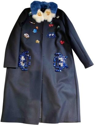 Anya Hindmarch Black Wool Coats