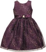 Sorbet Glitter Mesh Sleeveless Dress, Size 2-6X
