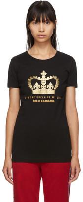 Dolce & Gabbana Black Crown Logo T-shirt