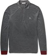 Burberry Slim-Fit Contrast-Trimmed Piqué Polo Shirt