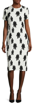 Balenciaga Silk Floral Jacquard Sheath Dress