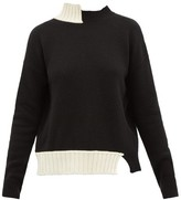 Marni Asymmetric Virgin Wool-blend Sweater - Womens - Black Multi