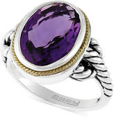 Effy Balissima by Amethyst Oval Ring in Sterling Silver and 18k Gold (5-1/4 ct. t.w.)