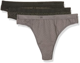 Dim Women's Pockets Coton Tanga X3 Thong Panties
