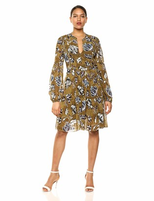 BCBGMAXAZRIA Azria Women's Puff Sleeve Shift Dress