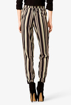 Forever 21 Stripped Woven Joggers