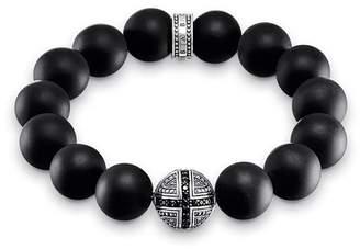 Thomas Sabo Unisex Bracelet Power Bracelet Cross 925 Sterling Silver, Blackened A1572-705-11