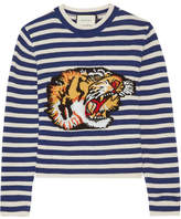 Gucci Intarsia Wool Sweater - Blue