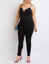 Charlotte Russe Plus Size Strappy Caged Jumpsuit