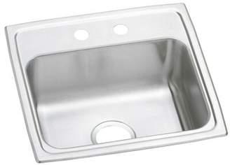 """Elkay Celebrity 19"""" L x 18"""" W Drop-in Kitchen Sink Faucet Drillings: 1 hole"""