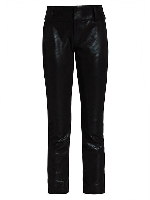 Alice + Olivia Stacey Vegan Leather Slim Cropped Pants
