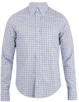 Prada Button-down Collar Checked Cotton Shirt