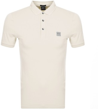 BOSS Passenger Short Sleeved Polo T Shirt Beige