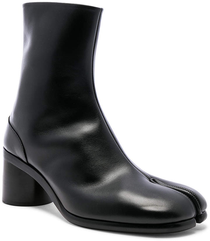 Maison Margiela Light Brushed Tabi Boot in Black | FWRD