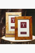 Twos Company Dark Brown Burled Wood Picture Frame