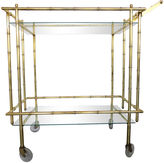 One Kings Lane Vintage Brass Bamboo-Style Bar Cart
