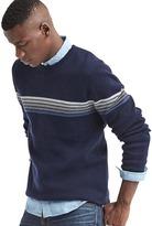 Gap Ski chest-stripe crew sweater