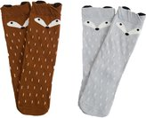 JIEYA Baby Toddlers Boys Girls Cartoon Printed Knee High Socks Stockings Pack of 2-Assorted Color (4-6Y, )