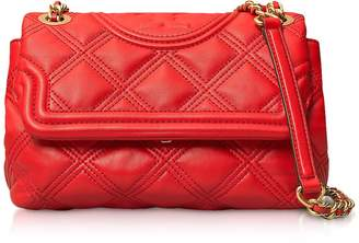 Tory Burch Brilliant Red Fleming Soft Small Convertible Shoulder Bag