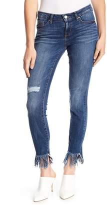 William Rast Distressed & Frayed Hem Skinny Jeans