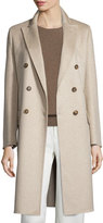 Max Mara Amabile Double-Breasted Cashmere Coat, Beige