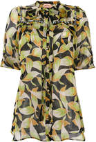 No.21 leaf print blouse