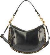 Isabel Marant Naoko Leather Half-Moon Hobo Bag