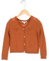 Bonpoint Girls' V-Neck Knit Cardigan