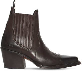 DSQUARED2 80mm Leather Western Ankle Boots