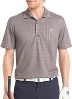Izod Golf Short-Sleeve Textured Plaid Polo
