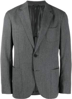 Giorgio Armani regular-fit chevron blazer