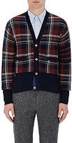 Thom Browne Men's Plaid Wool Cardigan