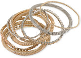 ABS by Allen Schwartz Two-Tone 10-Pc. Set Crystal Stretch Bracelets