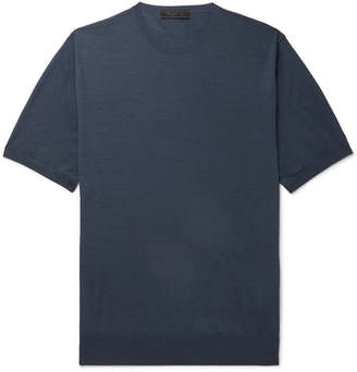 Prada Melange Virgin Wool-Jersey T-Shirt