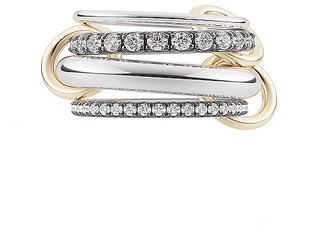 Spinelli Kilcollin Cassini Ring in Silver & Black   FWRD