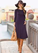 Together Lace Neck Jersey Dress