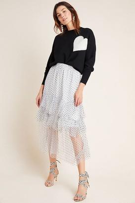 Eva Franco Lukjana Tiered Tulle Maxi Skirt