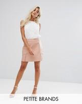 Fashion Union Petite Faux Leather Mini Skirt