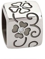 Nomination Cubiamo Big and 2 m Gold Plated Cubic with Lucky Charm Clover 925 Sterling Silver Zirconia white – 163201001