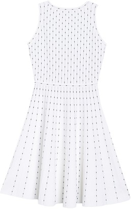 Milly Vertical Dot Print Flare Dress