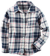 Carter's Button-Front Flannel Top