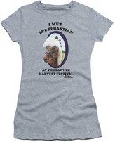Parks & Recreation Parks And Recreation Comedy TV Series Li'L Sebastian Juniors Sheer T-Shirt Tee