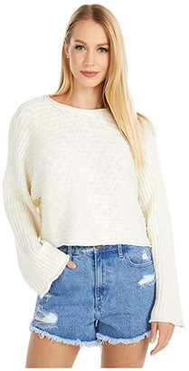 RVCA Dancer Sweater (Off-White) Women's Clothing