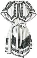 Self-Portrait monochrome stripe handkerchief dress