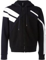 Neil Barrett sleeve panel zip cardigan - men - Cotton/Polyurethane/Spandex/Elastane/Viscose - S