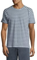 John Varvatos Striped Short-Sleeve T-Shirt, Blue