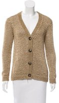 Tory Burch Metallic Knit Cardigan