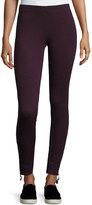 Max Studio Soft-Knit Terry Slim-Leg Pants, Wine/Natural