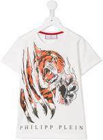 Philipp Plein tiger print T-shirt - kids - Cotton - 6 yrs